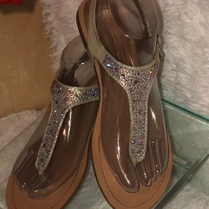BCBG tan with dazzle size 6 1/2